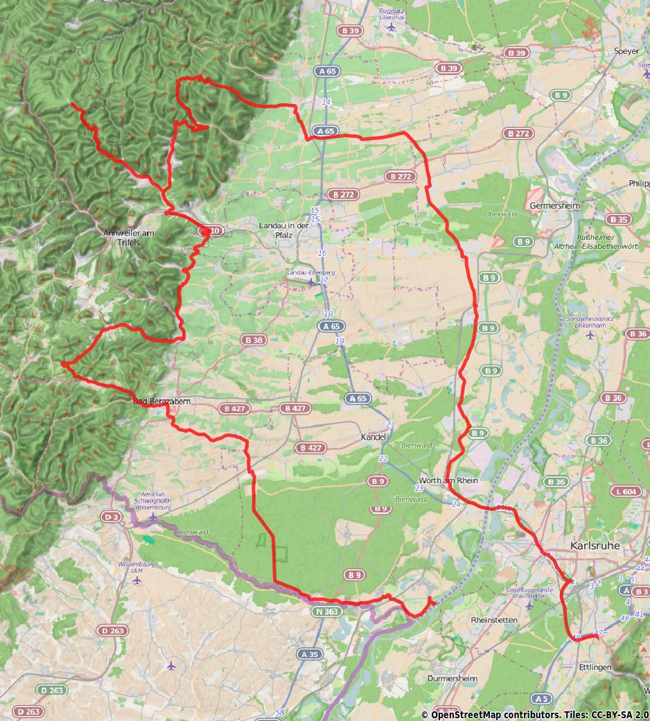 Route am 01.08.2015